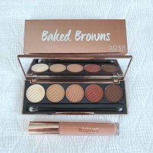 Eyeshadow palette & plumping lip gloss